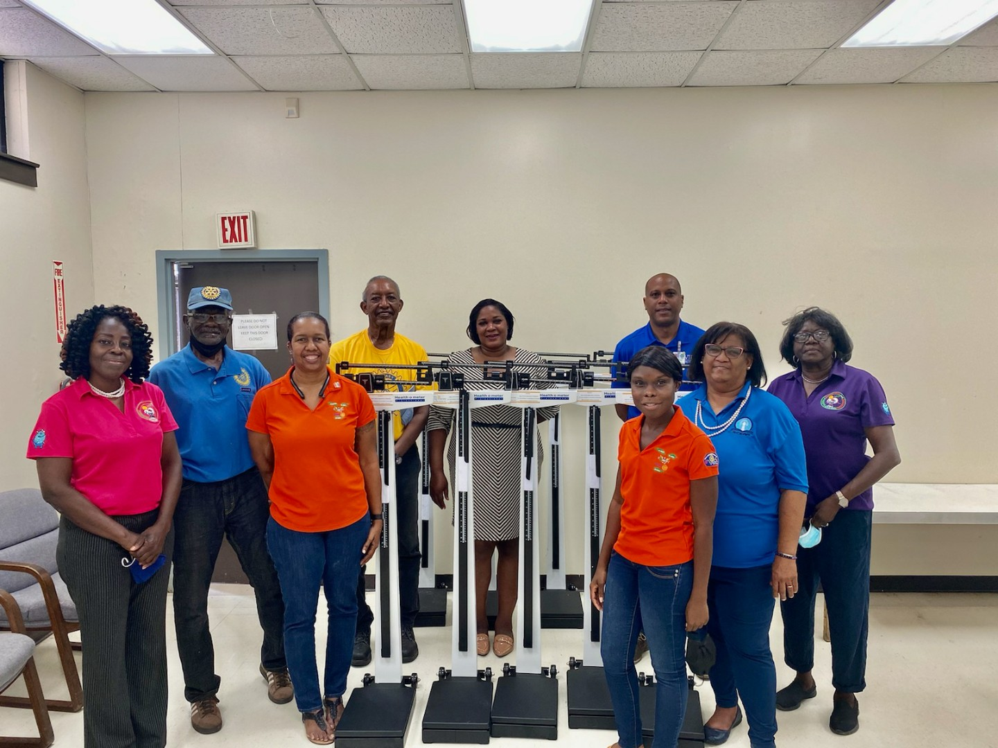 Rotary Club of St. Croix West Donates 15 Scales To St. Croix Schools for Health Program